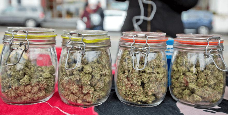 Słoiki z marihuaną