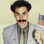 Borat z flagą USA
